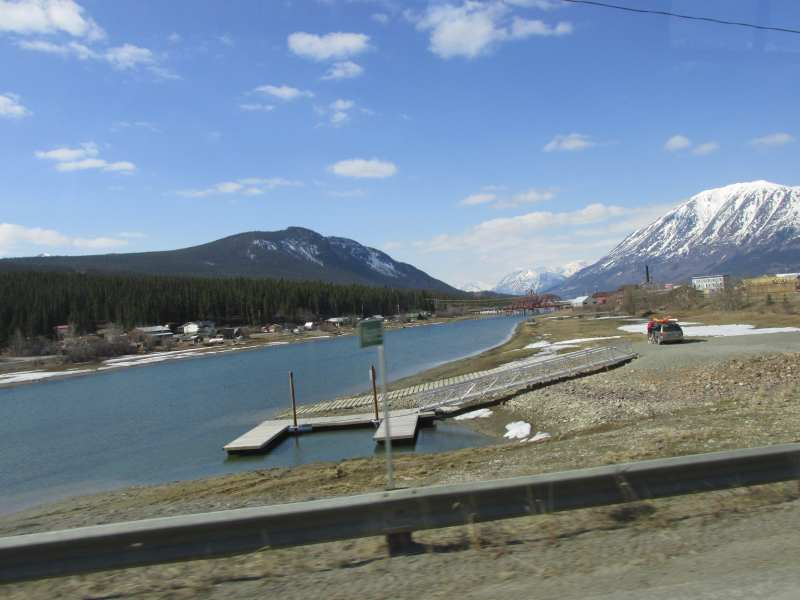 Driving by Carcross